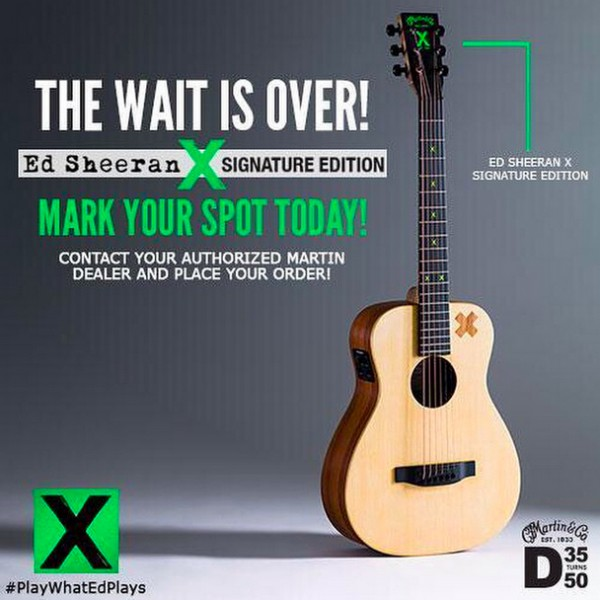 pressparty ed sheeran debuts second charity signature guitar and will donate 100 profits to. Black Bedroom Furniture Sets. Home Design Ideas